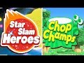 Kirby Star Allies - All Minigames (Star Slam Heroes + Chop Champs) Gameplay