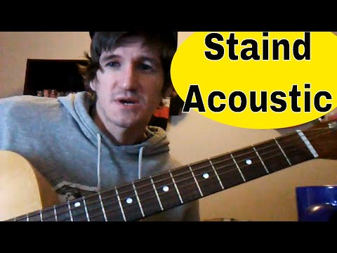 How To Play 'Outside' by Staind/Aaron Lewis: Easy Acoustic Guitar Tutorial/Lesson