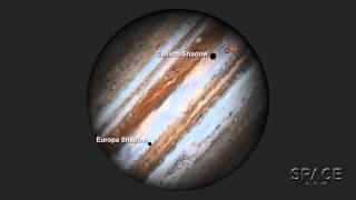 Hubble Scopes Out Three Moons Transiting Jupiter | Time-Lapse Video