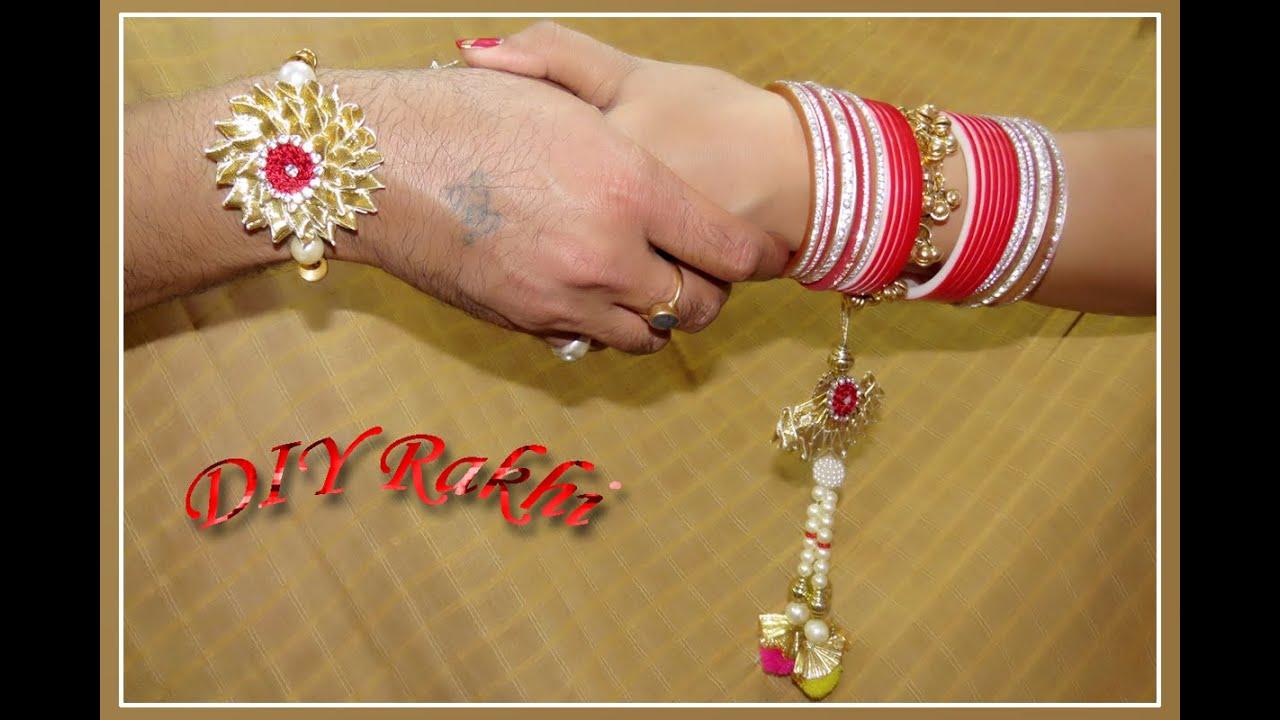 Diy how to make beautiful rakhi for raksha bandhan for Make home beautiful