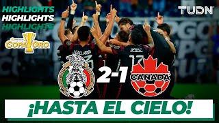 Resumen y goles   México 2-1 Canadá   Copa Oro 2021 - Semifinal   TUDN