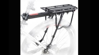 Bike Rear Rack, MTB Carrier Aluminum Rack Installation Guide