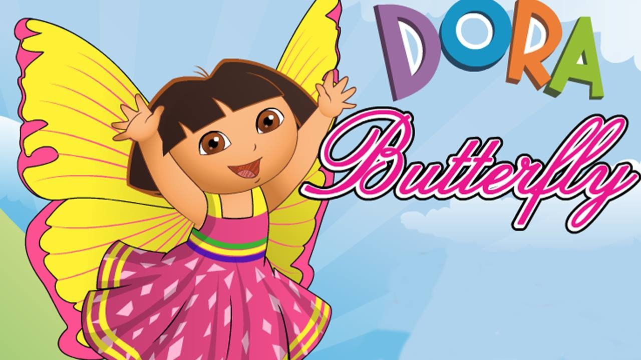 Dora The Explorer Butterfly Dress Up Beautiful Hairstyle Game For
