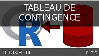 Tutoriel 14 R - Tableau de contingence - Matrices