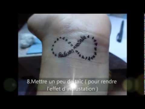 diy: faire un tatouage temporaire :) - youtube