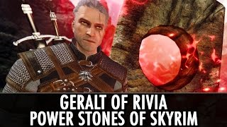 Skyrim Mods: Geralt of Rivia Voiced Follower & Power Stones of Skyrim