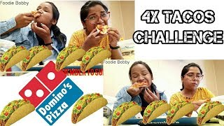 Crazy Tacos Eating Challenge || Taco Tuesday at Domino's Pizza
