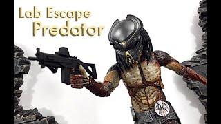 neca toys the predator lab escape fugitive predator action figure toy review