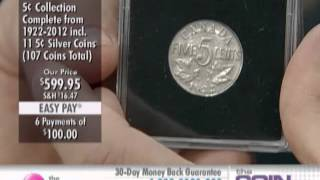 Complete Five Cent Collection 1922-2012, Plus 10 Five Cent Silver Coins 1899-1920 at The Shopping...