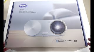 BenQ i500 LED Short-Throw Smart Projector Unboxing & Initial Setup