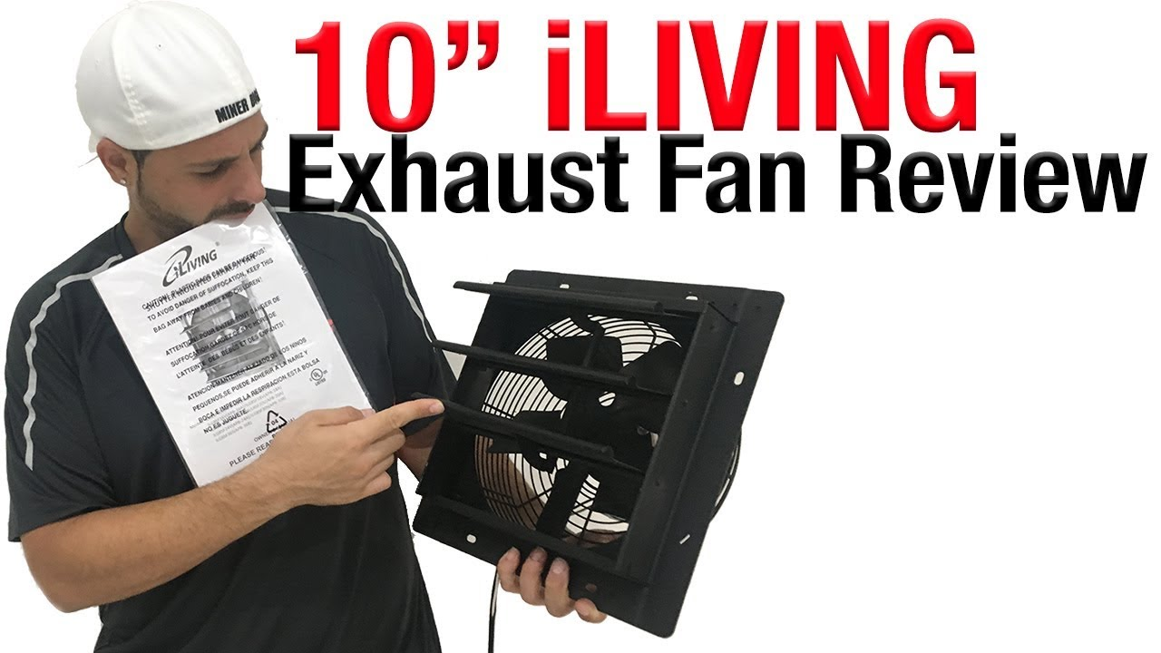 exhaust fan iliving 10 inch shutter mounted exhaust fan review mdm