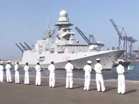 Italian Navy Ship Carabiniere F-593 arrives at Karachi Port watch video