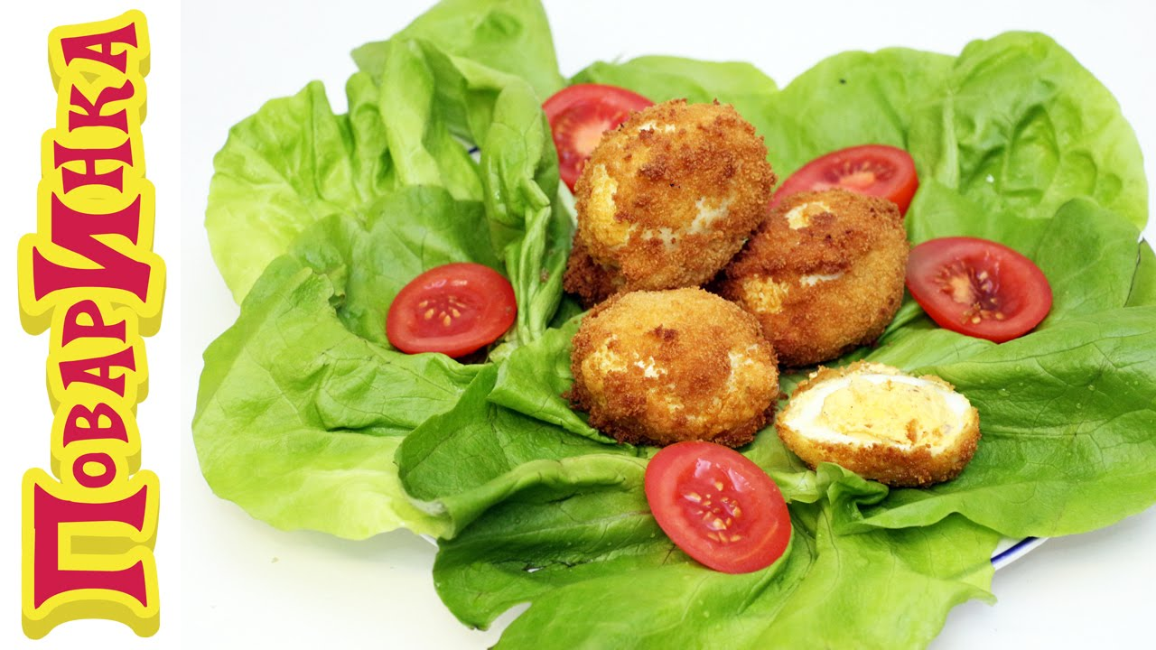 Закуска «вареные-жареные» фаршированные яйца - ПоварИнка ...