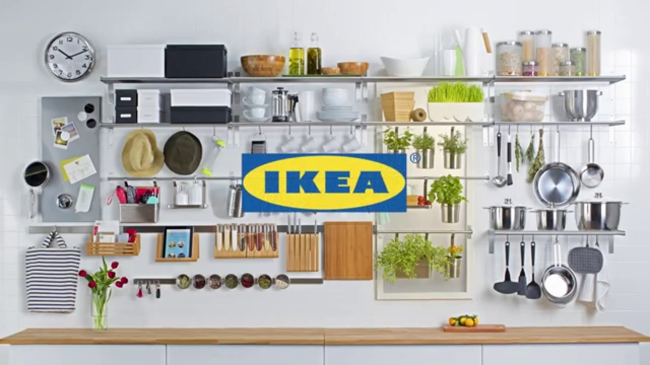 Ikea wall storage youtube Ikea hanging kitchen storage
