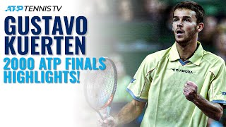 When Guga Kuerten Beat Sampras & Agassi Back-to-Back to be Year End No.1! | 2000 ATP Finals