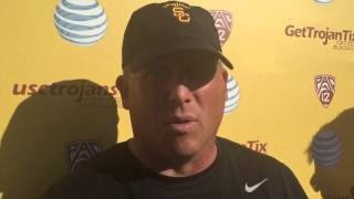 FightOn247 Video: Clay Helton USC Spring Practice #13