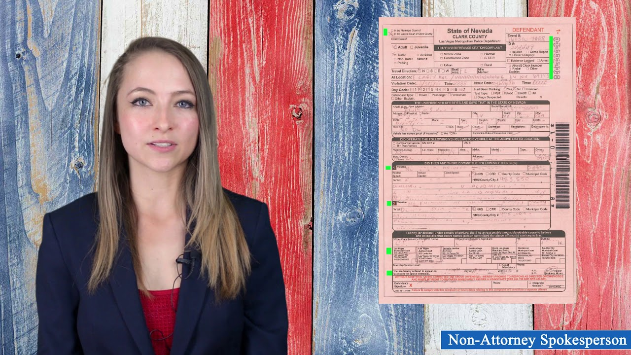 I received a Ticket in Las Vegas | Empire Law Group, Las