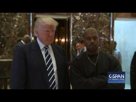 Kanye West and President-elect Donald Trump (C-SPAN)