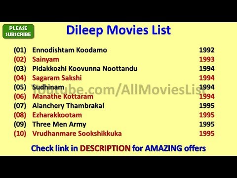 Dileep Movies List