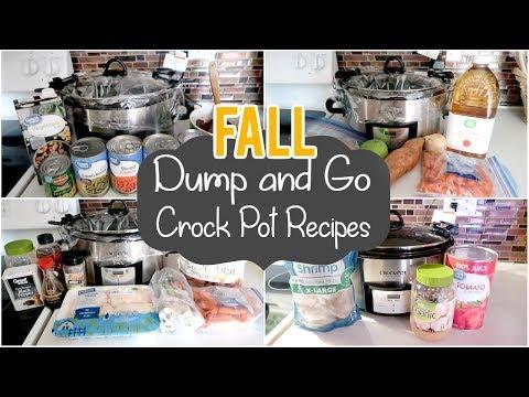 FALL DUMP & GO CROCK POT MEALS | QUICK & EASY CROCK POT RECIPES