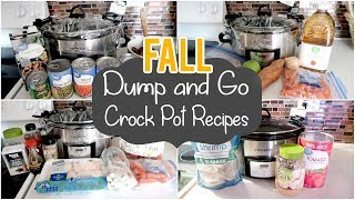 FALL DUMP & GO CROCK POT MEALS | QUICK & EASY CROCK POT RECIPES