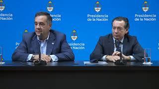 Declaraciones a la prensa de los ministros Alejandro Finocchiaro y Dante Sica