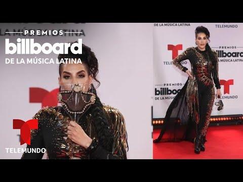 Ivy Queen complementa su look con una mascara espectacular en los Premios Billboard 2020