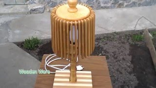 видео настольная лампа с абажуром