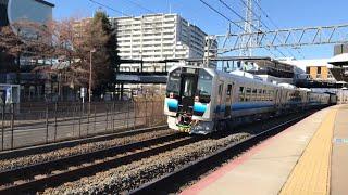 【秋田地区向けの電気式ディーゼルカー‼️】GV-E400系甲種輸送 桂川駅通過
