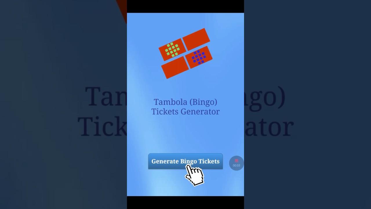 tambola number generator excel
