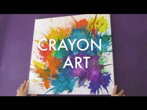 FUN CRAYON MELTING ART TUTORIAL