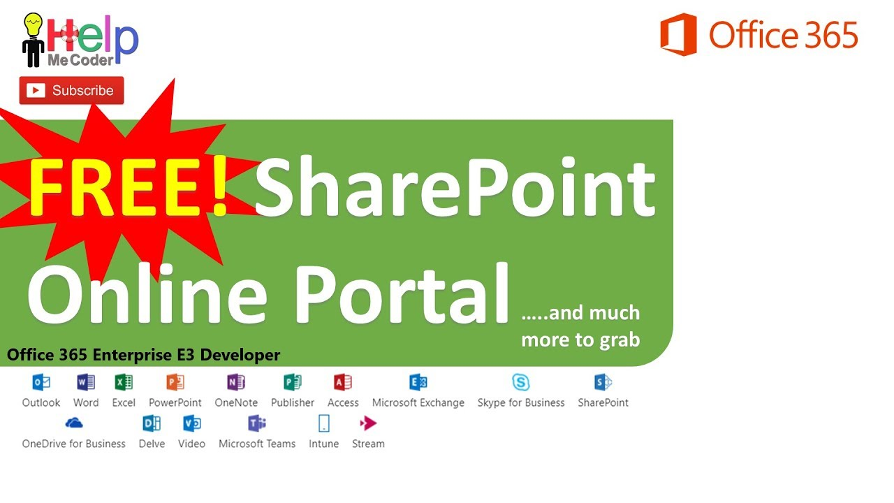 free sharepoint online portal office 365 subscription youtube