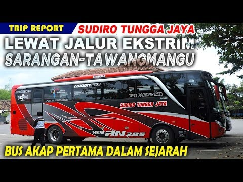 Sudiro Tungga Jaya LEWAT JALUR EKSTRIM SARANGAN, Bus AKAP Reguler Pertama dalam Sejarah