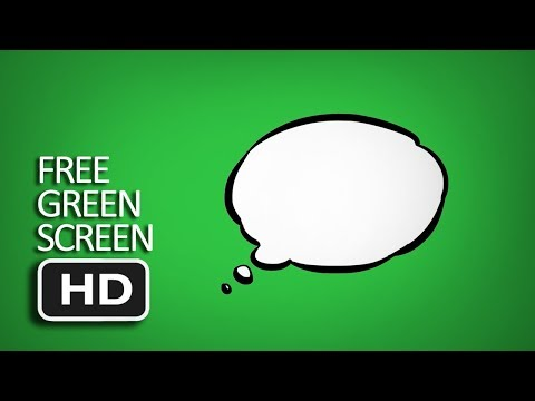Free Green Screen - Thought Bubble Comic Animated