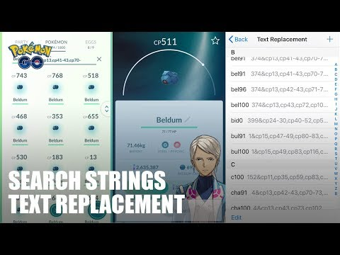 SEARCH STRINGS TEXT REPLACEMENT COMMUNITY DAY UPDATE - POKÉMON GO