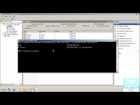 Create / Delete Global Address List In Exchange Server 2010