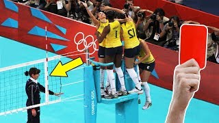 Craziest Red & Yellow Card in Volleyball History (HD)