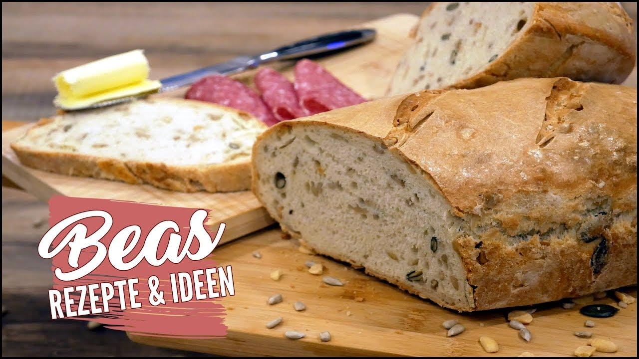 Schnelles Dinkelbrot Rezept  Einfach Brot backen ohne Sauerteig #BEAner