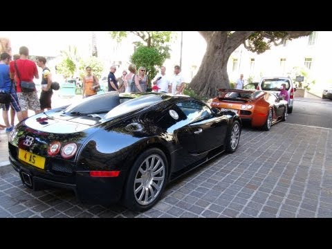 One Day of Carspotting in Monaco ( 2x Veyron, Marussia B2, F40, SLR 722 S, and much more)
