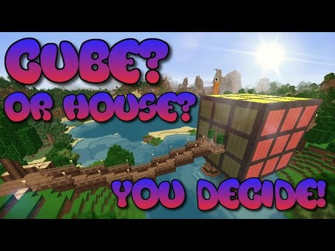 How to Build a House In Minecraft THATS A RUBIK'S CUBE | Rubik Cube House | Minecraft Building Ideas