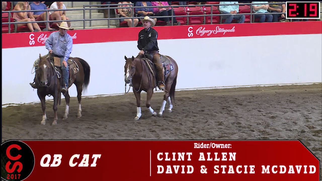 2017 Calgary Stampede Cutting Horse Competition Open