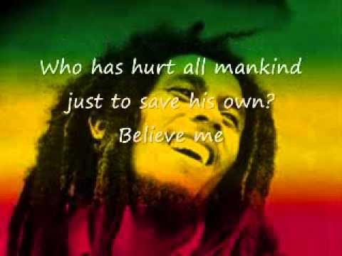 BOB MARLEY -------- ONE LOVE WITH LYRICS