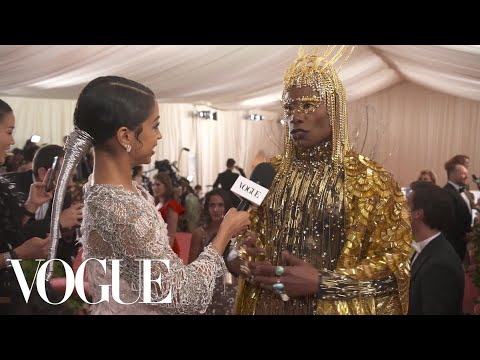 Billy Porter on Bringing Respect Back to Camp | Met Gala 2019 With Liza Koshy | Vogue