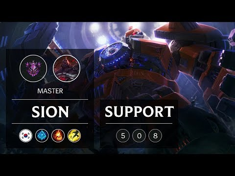 Sion Support vs Thresh - KR Master Patch 9.3
