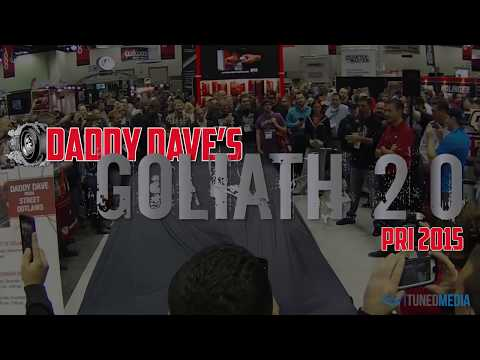 Daddy Dave from Street Outlaws unveils Goliath 2.0 at PRI 2015