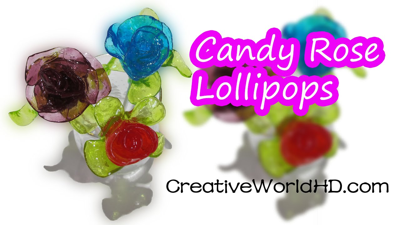 DIY Candy Rose LollipopsJolly Rancher Valentines Gift