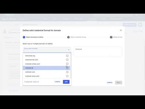 Validate Credentials in SearchLight