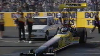 #ThrowbackThursday - Graeme Cowin Aussie first 4 second Top Fuel pass