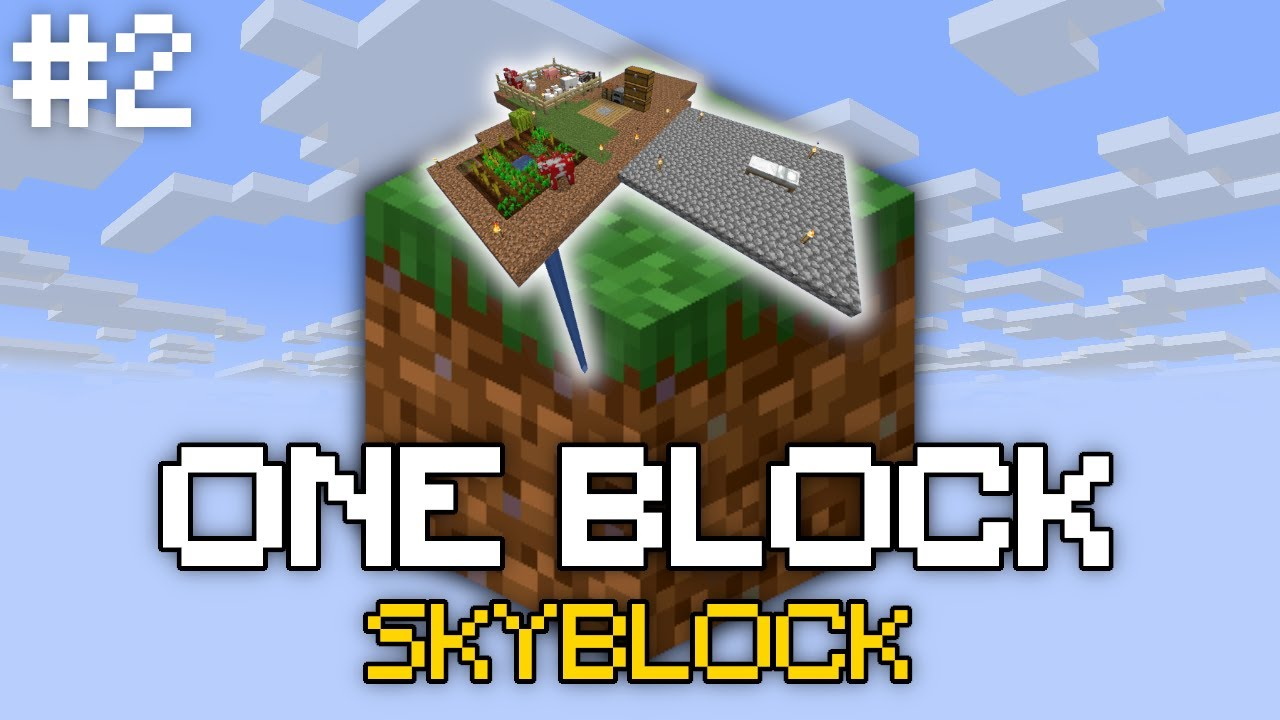 One Block Skyblock   Phase 3! And creepers...   Episode 02