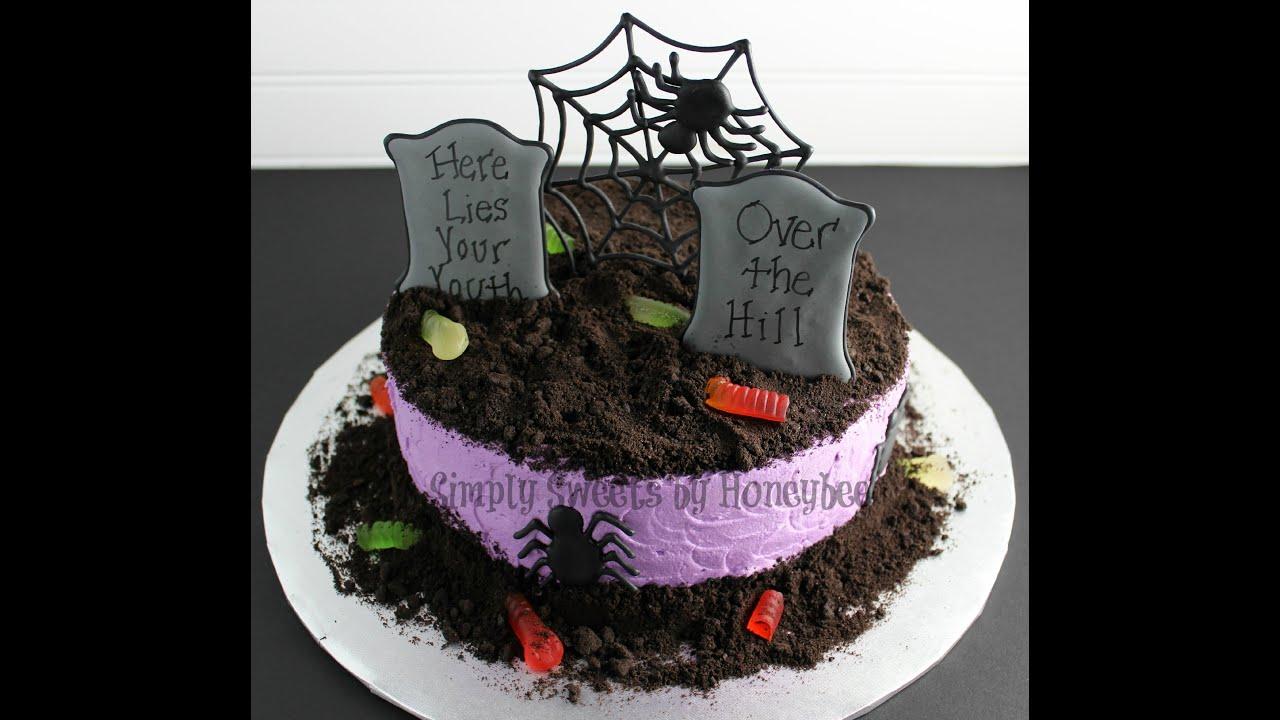 watch me decorate a graveyard cake